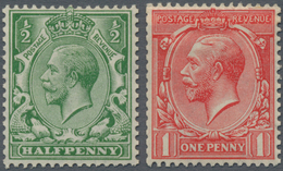 Großbritannien: 1913, KGV ½d. Bright Green And 1d. Dull Scarlet, Wm Multiple Cypher, Both Fresh Colo - Ohne Zuordnung