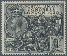 Großbritannien: 1929, 9th Congress Of The Universal Postal Union, 1 Pound Black, Selected Beautiful - Ohne Zuordnung