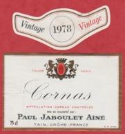 Etiquette -France - Cornas - 1978 - Vintage - Etiquetas