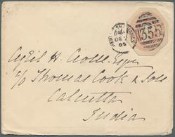Großbritannien - Ganzsachen: 1905-06: Postal Stationery Cutouts QV 1d. Even On Three Covers From A C - 1840 Mulready-Umschläge