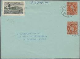 Großbritannien - Ganzsachen: 1959 Four Used Private Postal Stationery Lettersheets Half Penny, Orang - 1840 Mulready-Umschläge