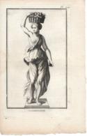 Petite Gravure 18e, La Canéphore - Gravures