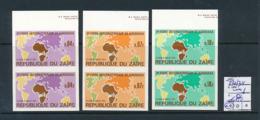 CONGO KINSHASA ZAIRE COB 832/34 IMPERFORATED MNH - Zaïre