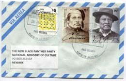 ARGENTINA ENVELOPE CIRCULATED TO THE NEW PANTHER PARTY NATIONAL MINISTRY OF CULTURE, NEWARK, U.S.A. YEAR 2018 -LILHU - Lettres & Documents