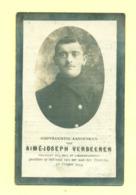 Doodsprentje Aimé Joseph Verbeeren - Denderhoutem  /  - Gesneuvelde / Soldaat WO1 WW1 - Esquela