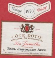 Etiquette -France - Côtes Rôtie - 1978 - Les Jumelles. - Vintage - Etiquetas
