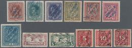Jugoslawien - Besonderheiten: 1919, CELJE ISSUE, Group Of 33 Different Stamps With Ovp 'SHS SLOVENIJ - Jugoslawien