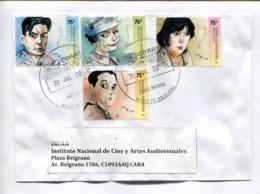 ARLT, MARSHALL, GUIDO, SANDRINI. ARGENTINA ENVELOPE CIRCULATED TO INCAA ARGENTINA YEAR 2018. -LILHU - Argentina