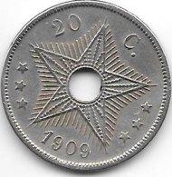 *belgian Congo 20 Centimes 1909  XF !!! - 1885-1909: Leopold II