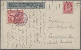 Norwegen - Privatpost Spitzbergen: 1911, Spitsbergen 10 Öre Green 'icebear Hunting', Tied By Violet - Ortsausgaben