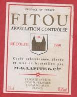 Etiquette -France - Fitou - 1980 - Lafite - Etiquetas