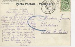 N°83 Herenthals 9.XII.1910.Arr. Dépot-remais St -Pieters-Lille. TB - Marcophilie