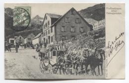 SUISSE - URI - GOESCHENEN - FURKASTRASSE HOTEL TIEFENGLETSCHER - BEAU PLAN DILLIGENCE CHEVAL - VOIR ZOOM - UR Uri