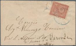San Marino: 1877, Italy Michel-No. 24 Forerunner Single Franking Tied By Circle Postmark REPUBBLICA - San Marino