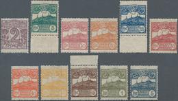 San Marino: 1903, 2 C Lilac To 1 L Olive And 5 L Blue Mint Never Hinged - San Marino