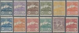 San Marino: 1903, Defenitives Issues, Sassone No. 34/45 Mint Never Hinged. Partly Natural Gum Toning - San Marino