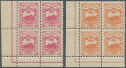San Marino: 1916, UNISSUED RED CROSS Stamps 'Pro Croce Rossa' 10+5cent. Carmine And 20+5c. Orange Bo - San Marino