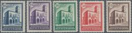 San Marino: 1932, Inauguration Of The New Post Building, Sassone 159-163 Mint Never Hinged. Catalogu - San Marino