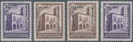 San Marino: 1933, Philatelistic Congress, Sassone 176/179 Mint Never Hinged. Catalogue Value 1625 € - San Marino