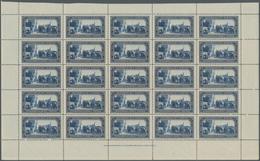 San Marino: 1932, 50 Years Death Of Giuseppe Garibaldi 1.25lire Blue Complete (folded) Sheet Of 25 W - San Marino