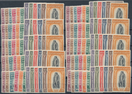 San Marino: 1935, Melciorre Delficio, Investment Lot Of 10 X Sassone 193-204 Mint Never Hinged. Cata - San Marino