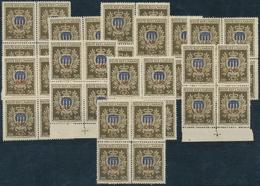 San Marino: 1946, Welfare, 10 X Block Of Four Sassone 297 Mint Never Hinged. Catalogue Value 2500.- - San Marino