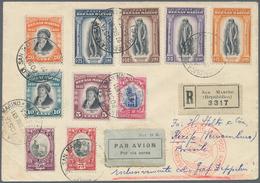 San Marino: 1935, 7. Südamerikafahrt 1935, R.Brief Ab San Marino 27.6. Nach Recife Mit Bunter MiF In - San Marino