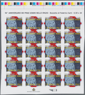 "San Marino: 2011, 50th Anniversary Of Manned Space Flights, 0.50€ ""Juri Gagarin"", IMPERFORATE Proof - San Marino"