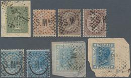 San Marino - Stempel: 1866/1870(ca). Nice Group Of 8 DLR Stamps (1 C London,10 C L, 30 C London And - San Marino
