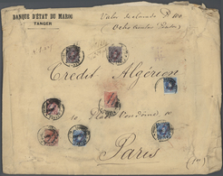 Spanische Post In Marokko: 1917, 2 X 10 C Red, 3 X 25 C Blue, 1 Pta Lilac And 2 X 4 Pta Violet, Mixe - Spanisch-Marokko