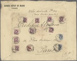 Spanische Post In Marokko: 1917, 1pts. Carmine (9), 10c. Red And 50c. Greenish Blue (2), 10.10pts. R - Spanisch-Marokko