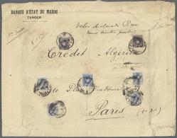 Spanische Post In Marokko: 1918, 25c. Blue, 4pts. Violet-black (2) And 50c. Greenish Blue (4), 10.25 - Spanisch-Marokko