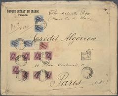 Spanische Post In Marokko: 1919, 10 C Red, 4 X 50 C Grey-blue, 3 X 1 Pta Rose-red And 5 X 1 Pta Lila - Spanisch-Marokko