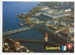 LUZERN Flugaufnahme Neuer Bahnhof Einweihung Feb. 1991 - LU Lucerne