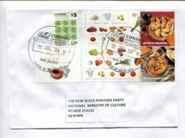 ARGENTINA ENVELOPE CIRCULATED TO THE NEW BLACK PANTHER PARTY NATIONAL MINISTRY OF CULTURE, NEWARK, U.S.A. 2018 -LILHU - Alimentation