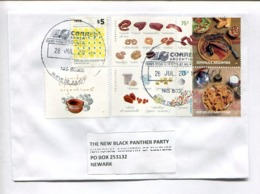 ARGENTINA ENVELOPE CIRCULATED TO THE NEW BLACK PANTHER PARTY NATIONAL MINISTRY OF CULTURE, NEWARK, U.S.A. 2018 -LILHU - Lettres & Documents