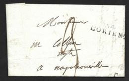 Morbihan-Lettre (De Lorient) Avec Marque 54 LORIENT-Pour Napoleonville - Marcophilie (Lettres)