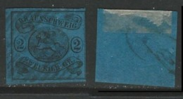 GERMANIA  BRUNSWICK 1853 / 65 - Stemma - N. 8 Usato - Cat. 80 € - Lotto 4885 - Brunswick
