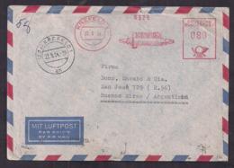 Deustche Bundespost - 1954 - Brief - Luftpost - Argentinien - Lettres & Documents
