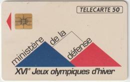 Telécarte ,  Privée :  Ministère De La  Défense , Jeux  Olympiques  D  Hiver  ( 11/91 ) - Frankreich