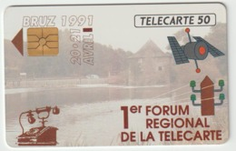 Telécarte ,  Privée : BRUZ  Ille  Et  Vilaine :  Salon   Collection  (  04/91 ) - Francia