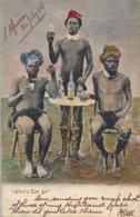 1905 SUDAFRICA , TARJETA POSTAL  CIRCULADA - PORT ELIZABETH , NATIVOS , WHISKEY , BEBIDAS , HUMOR - South Africa
