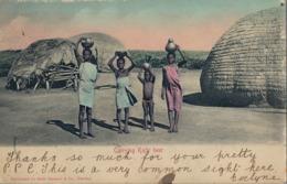 1905 SUDAFRICA , TARJETA POSTAL  CIRCULADA - QUEENSTOWN , CARRYING KAFIR BEER , CERVEZA , BIER , BIERRE - Sudáfrica