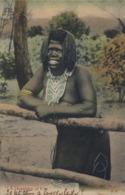 "1906 SUDAFRICA , TARJETA POSTAL  CIRCULADA - PORT ELIZABETH , "" A DAUGHTER OF EVE "" , TEMA ÉTNICO , DESNUDO , NUDE - Sudáfrica"