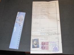 CONSULAT DE FRANCE A LIEGE - CERTIFICAT D'IMMATRICULATION - 17/8/1946-SOULIE NEE MARCHAND Vve Marthe Castres (voir Scan) - Documentos Históricos
