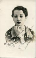 MARUJA ROIG - ACTRIZ ARGENTINA DE ORIGEN SALVADOREÑO (1908/1983). PAREJA DE ANTONIO SCATASSO. ACTRESS AUTOGRAPH  -LILHU - Autographes