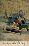 1906 SUDAFRICA , TARJETA POSTAL  CIRCULADA - PORT ELIZABETH , ZULU GIRL , TEMA ÉTNICO , ETNIC , WOMAN , AFRICA - África
