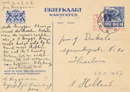 Nederlands Indië - 1937 - 3,5 Op 5 Cent Karbouwen, Briefkaart G61 Van LB DEPOK Naar Haarlem / Nederland - Nederlands-Indië