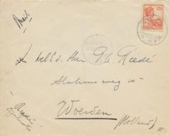 Nederlands Indië - 1929 - 12,5 Cent Wilhelmina Met Scheepje Van LB DJATIROTO Naar Woerden / Nederland - Nederlands-Indië