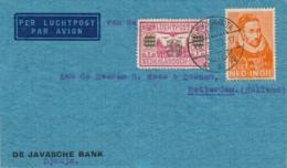 Nederlands Indië - 1933 - 12,5 Cent Willem I Op LP-cover Van LBnrDJOKJAKARTA/1 Naar Rotterdam / Nederland - Indie Olandesi